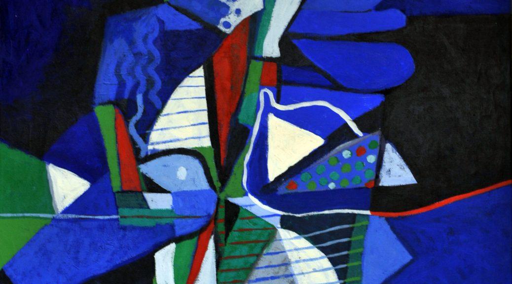 + Dia Al-Azzawi, The Blue Bird, 1983. Huile sur toile, 69,5 x 78 cm. Copyright Dia Al-Azzawi(2)